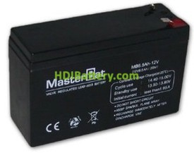 Bateria de Plomo 12 Voltios 6 Amperios (151x50x94mm)